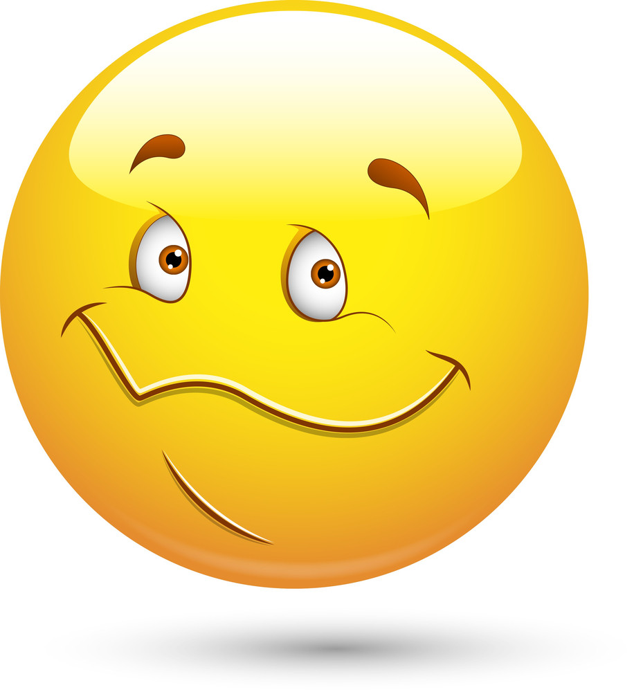 Smiley Vector Illustration - Happy Cute Face