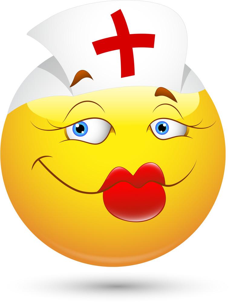 Smiley Vector Illustration - Nurse