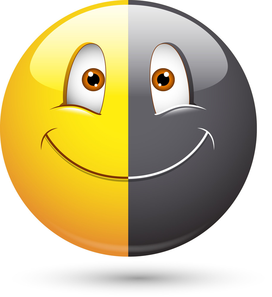 Smiley Vector Illustration - Racism Face