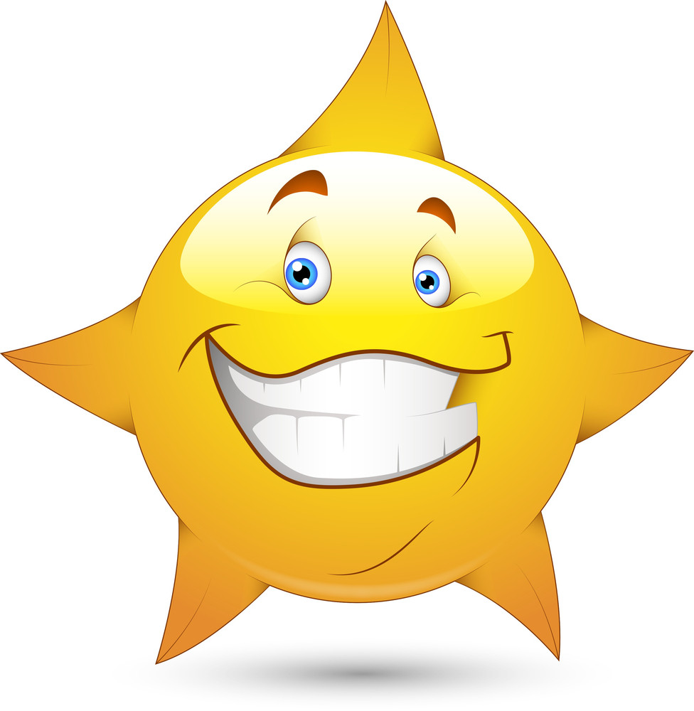 Smiley Vector Illustration - Star Face