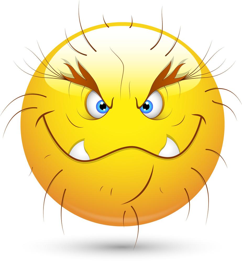 Smiley Vector Illustration - Wild Monster Face