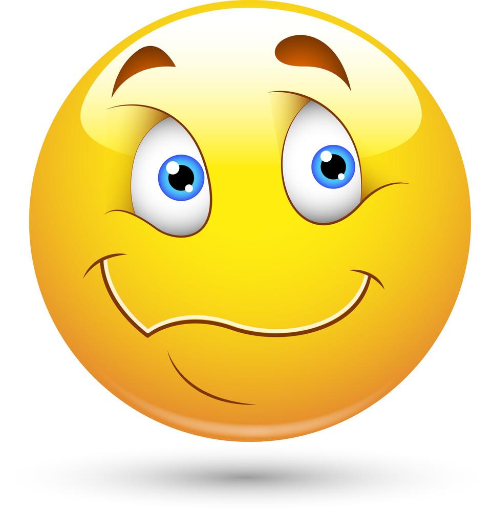 Smiley Vector Illustration - Wondering Face
