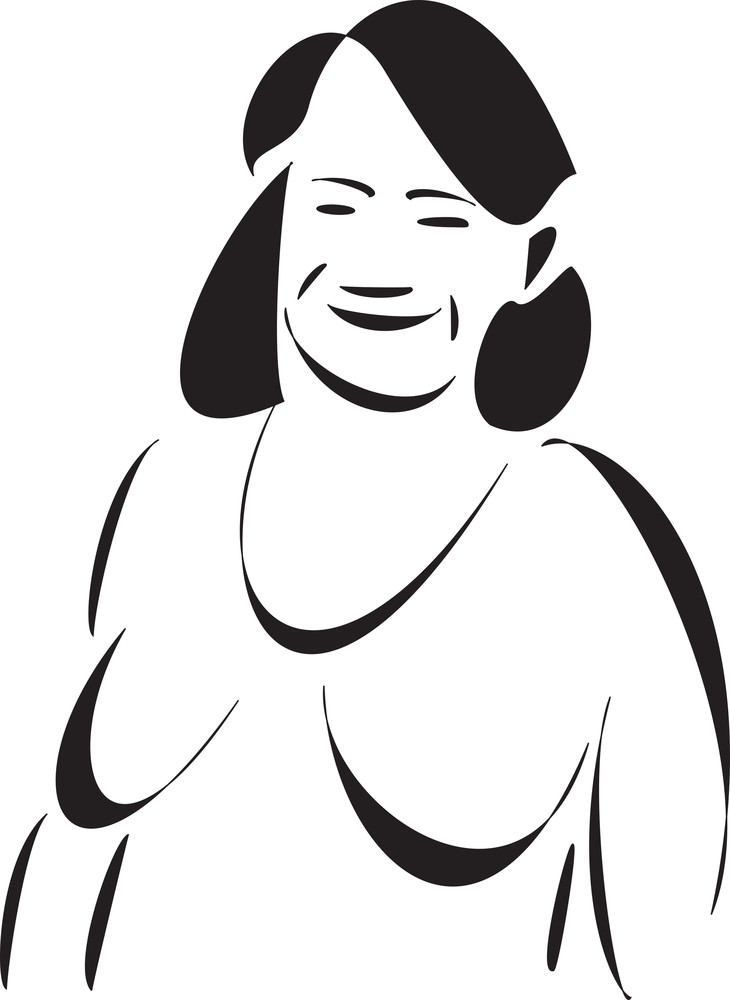 Smiling Face Of A Amazon Woman.