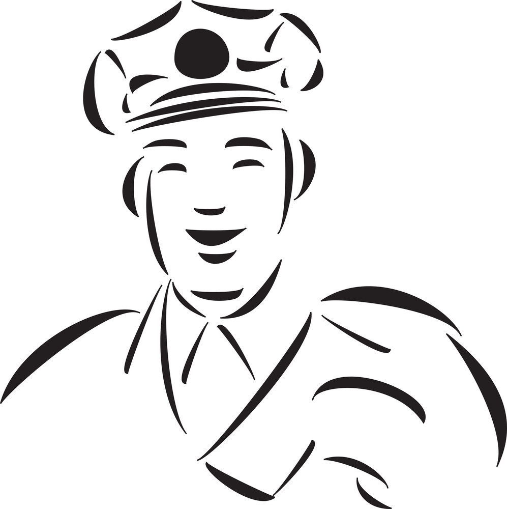 Smiling Face Of A Postman.