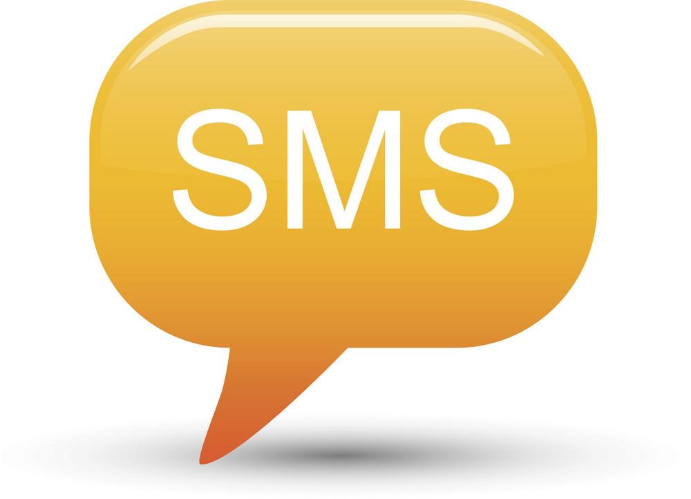 Sms Message Bubble Orange Lite Communication Icon