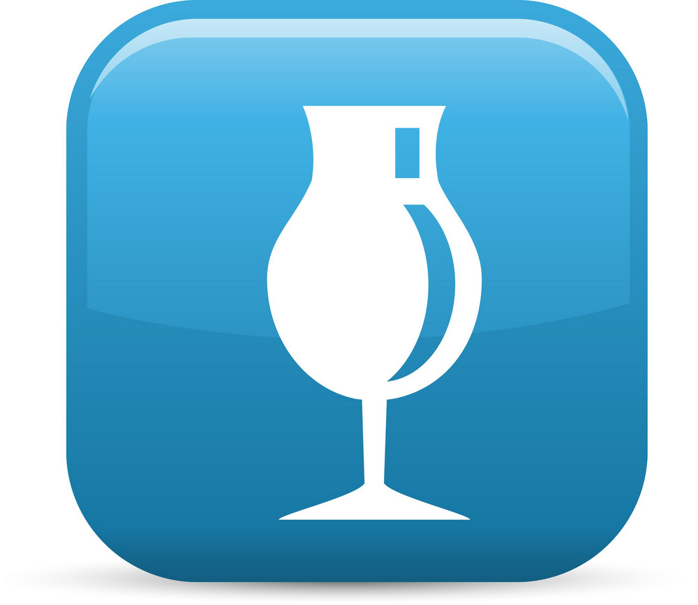Snifter Glass Elements Glossy Icon