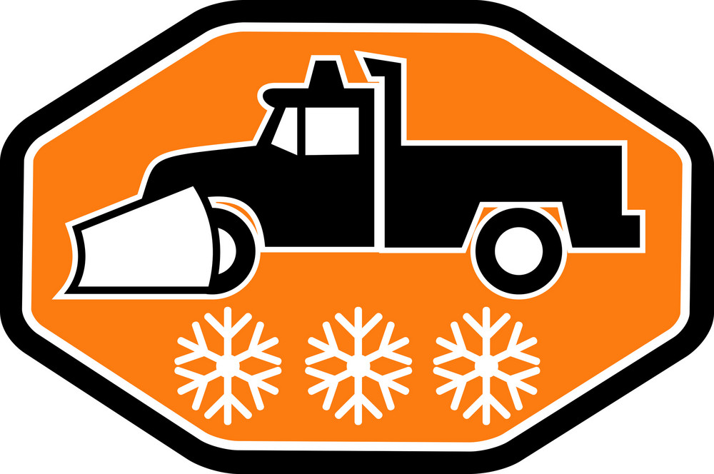 Snow Plow Truck With Snowflake