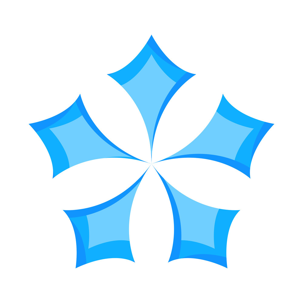 Snowflake Design Star Element