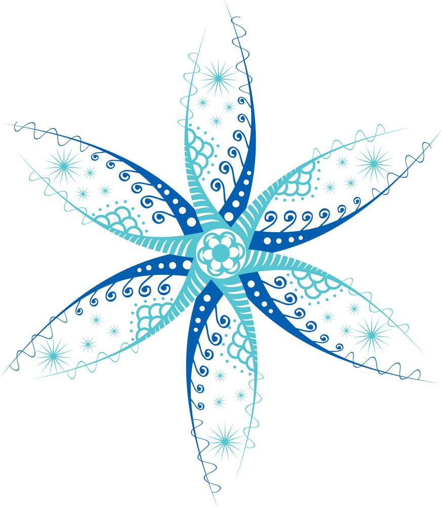 Snowflake Isolated On White