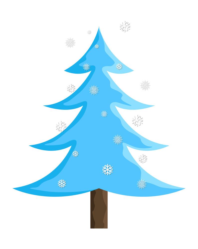 Snowflakes Christmas Tree Design