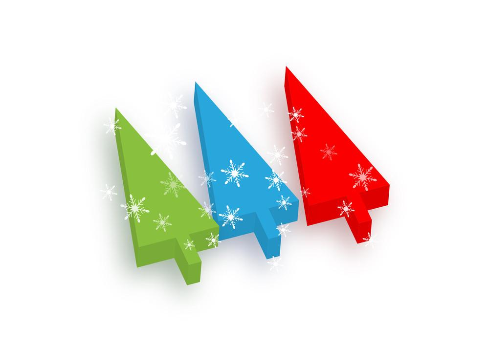 Snowflakes Christmas Trees
