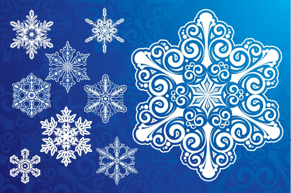 Snowflakes. Vector.