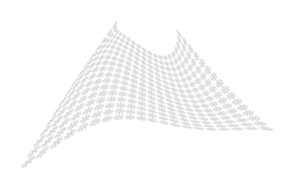 Snowflakes Wavy Sheet Design