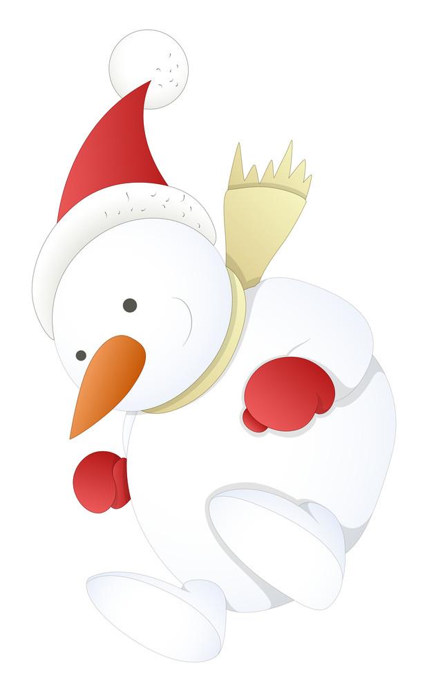 Snowman - Christmas Vector Illustration