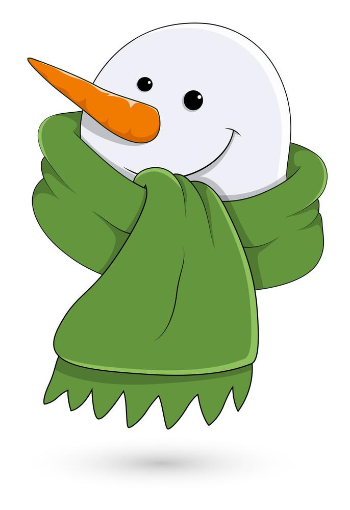 Snowman Face Vector Illustration