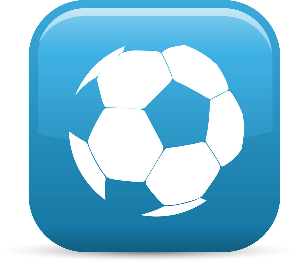 Soccer Ball Sport Elements Glossy Icon