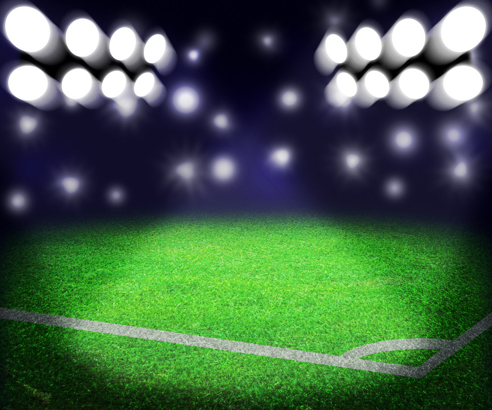 Soccer Stadium Spotlight Background