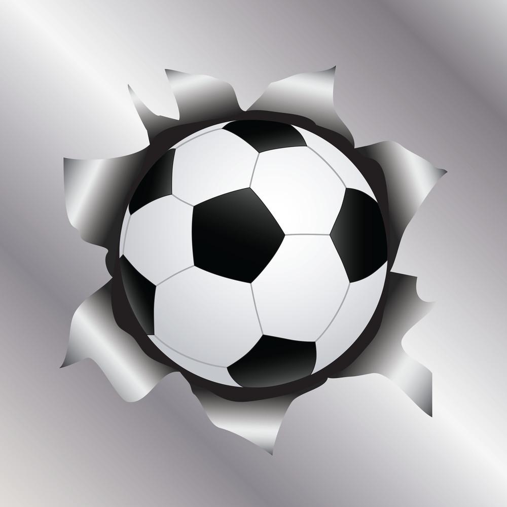 Soccer Thru Metal Sheet