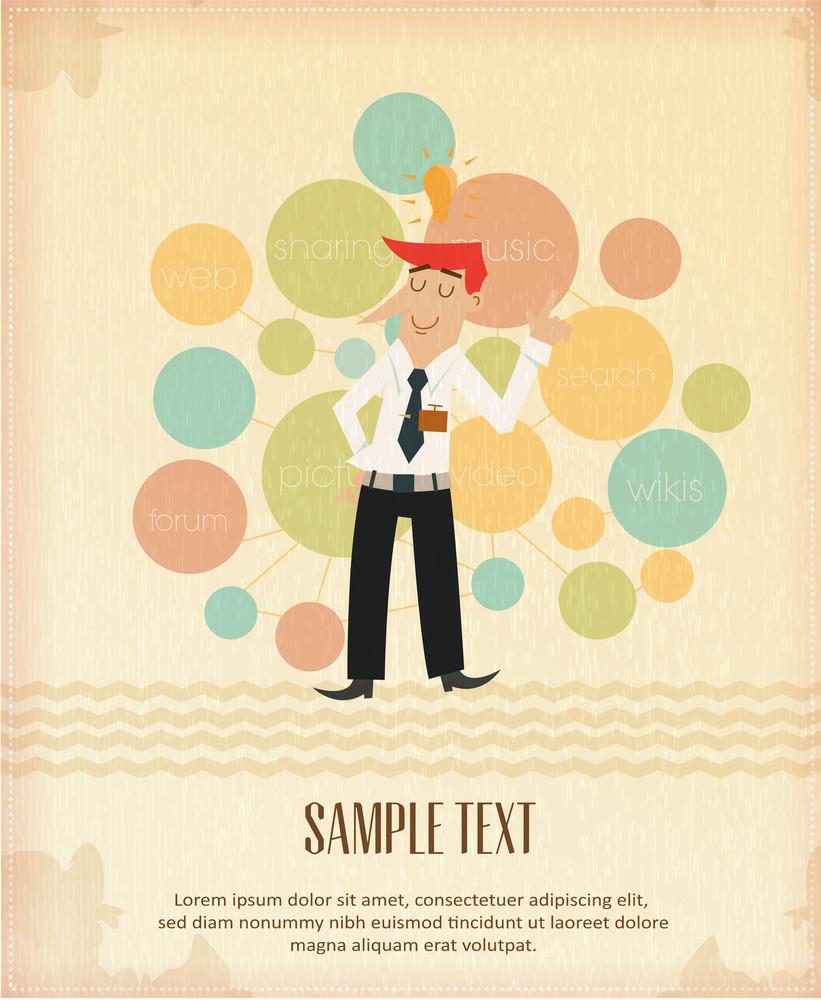 Social Media Businessman (editable Text)