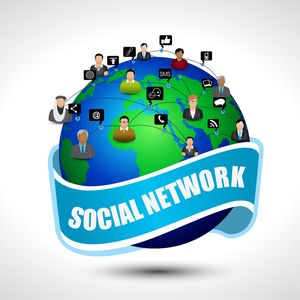 Social Media Network Connection. Eps10