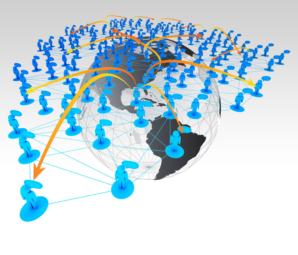 Social Network Concept In 3d