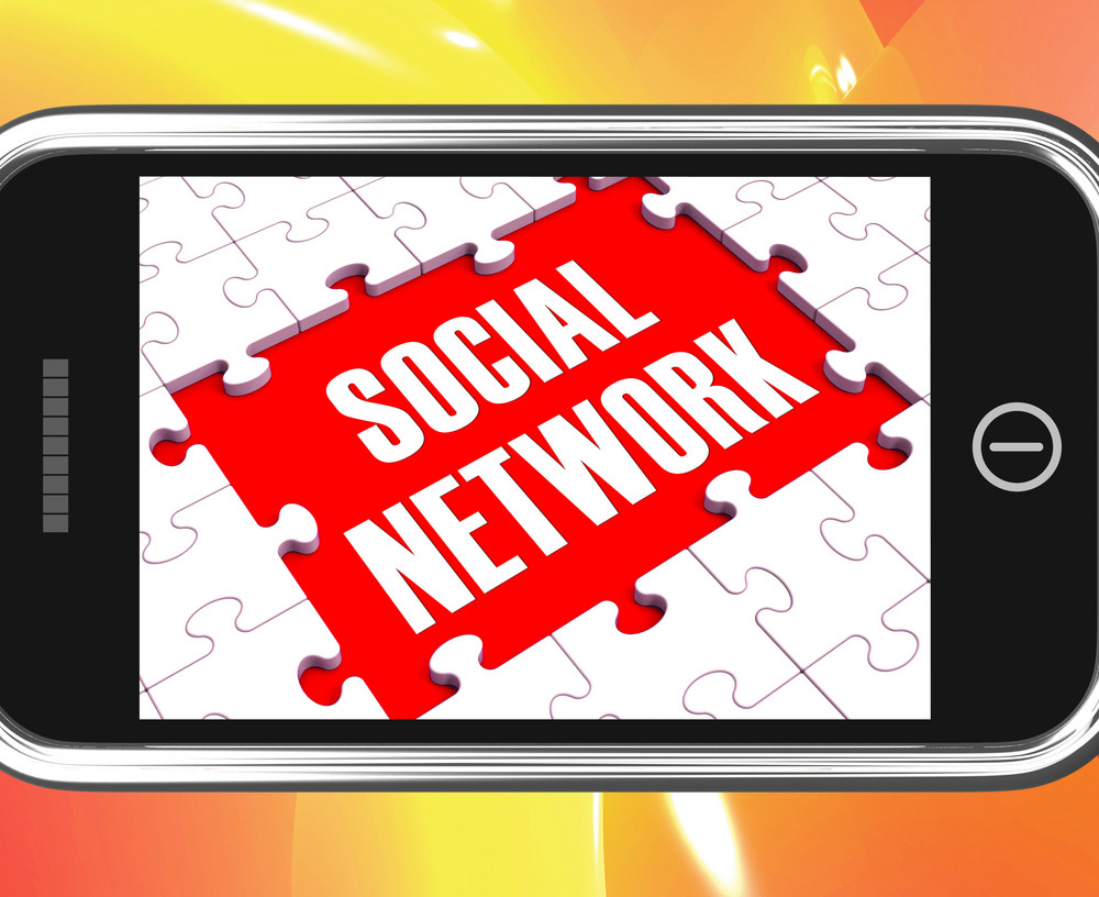 Social Network On Smartphone Showing Online Interactions