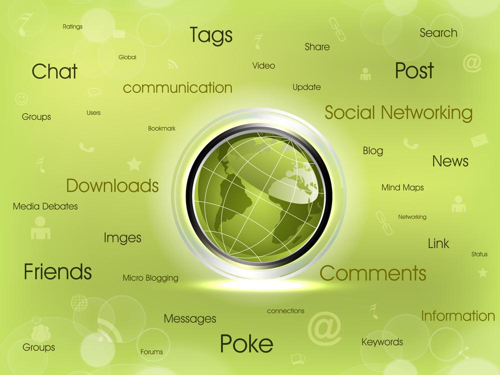 Social Networking Map Diagram.