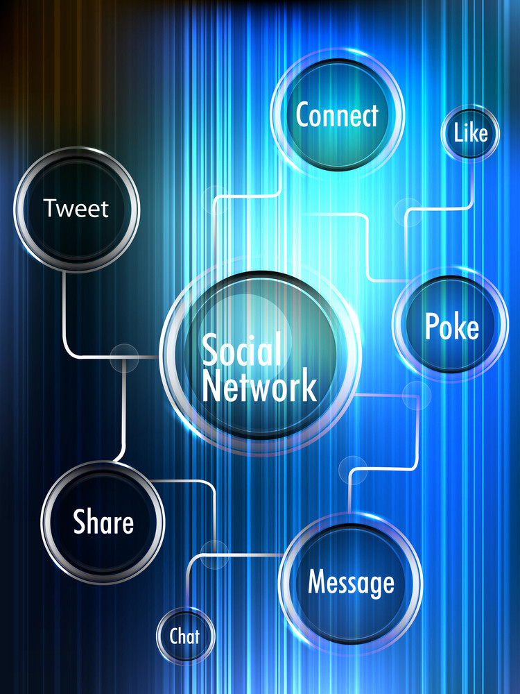 Social Networking Theme Displaying A Globe