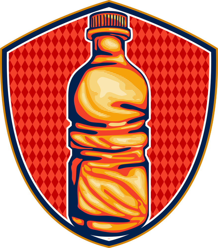 Soda Cola Water Bottle Retro Crest