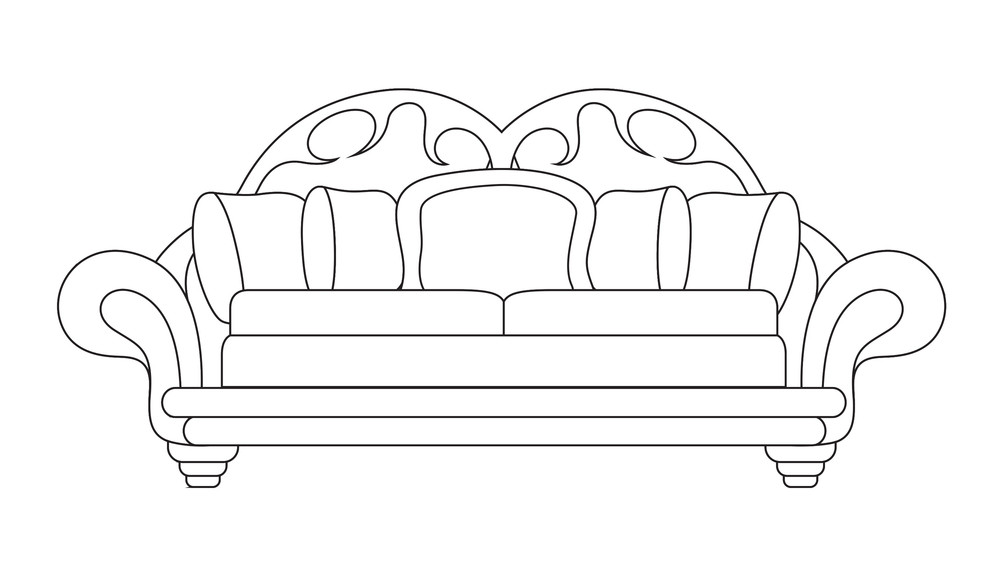 Sofa Vector Shape Design Royalty Free Stock Image Storyblocks Images