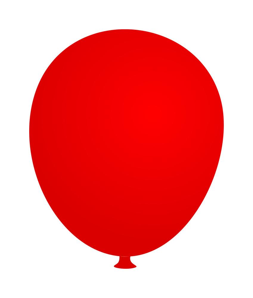 Soft Red Balloon Banner