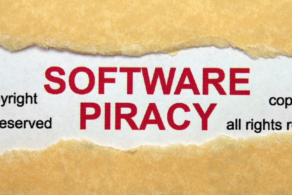 Software Piracy Concept