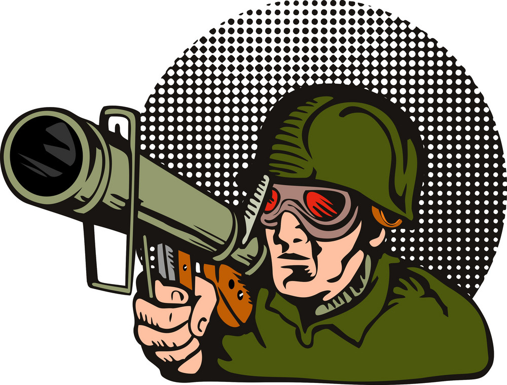 Soldier Aiming Bazooka