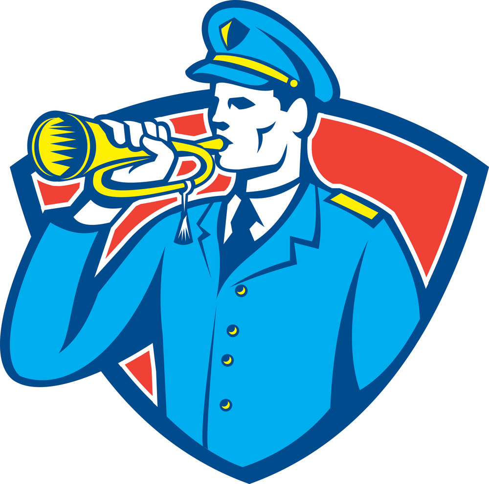 Soldier Blowing Bugle Crest