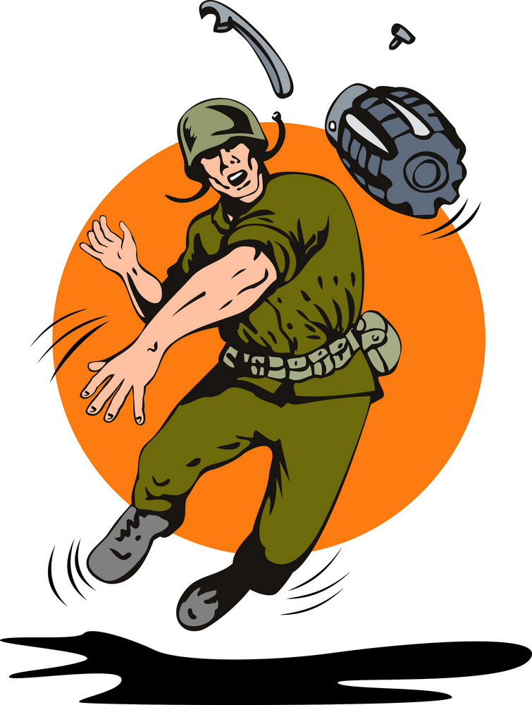 Soldier Throwing Grenade