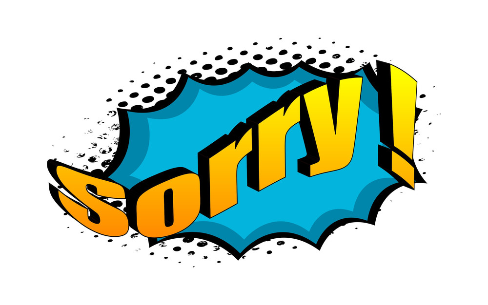 Sorry Retro Graphic Text Banner