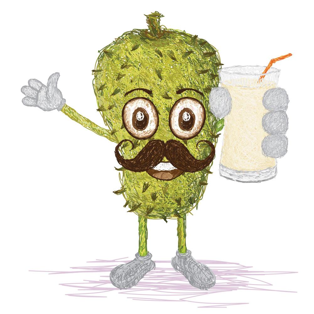 Soursop Fruit Mustache