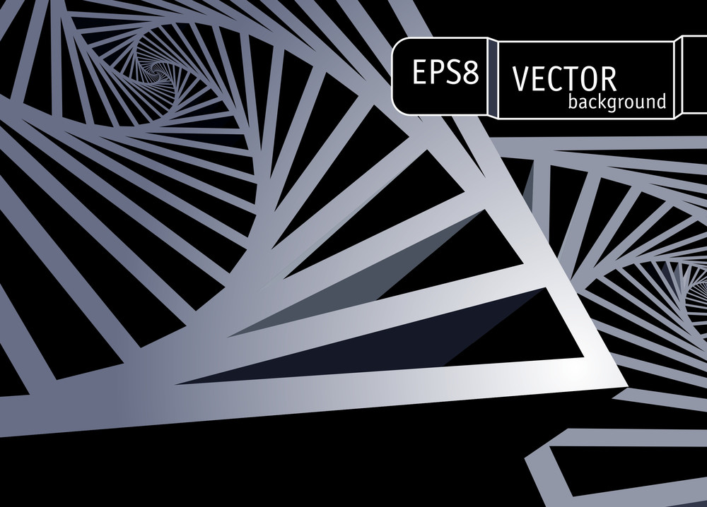 Space Structure. Vector Abstract.