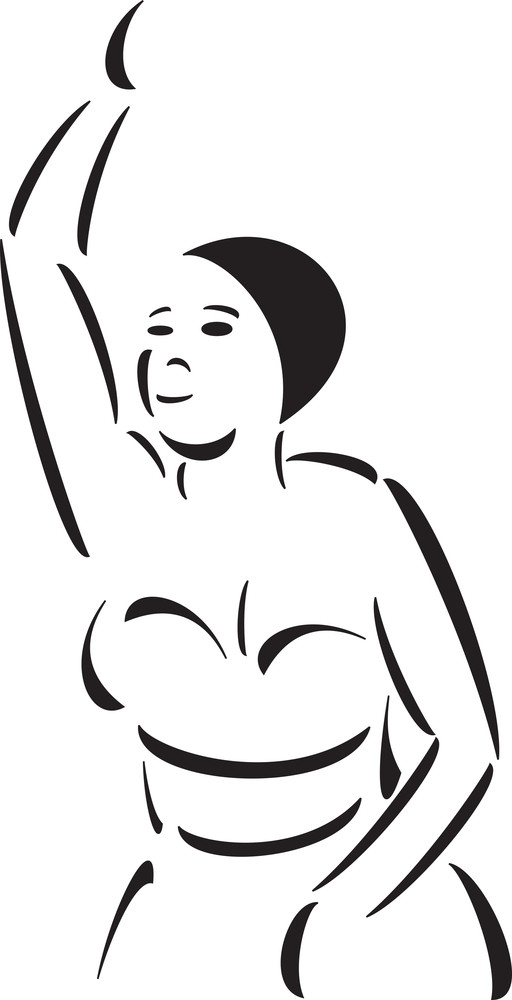 Spanish Cuban Girl In Dancing Pose.