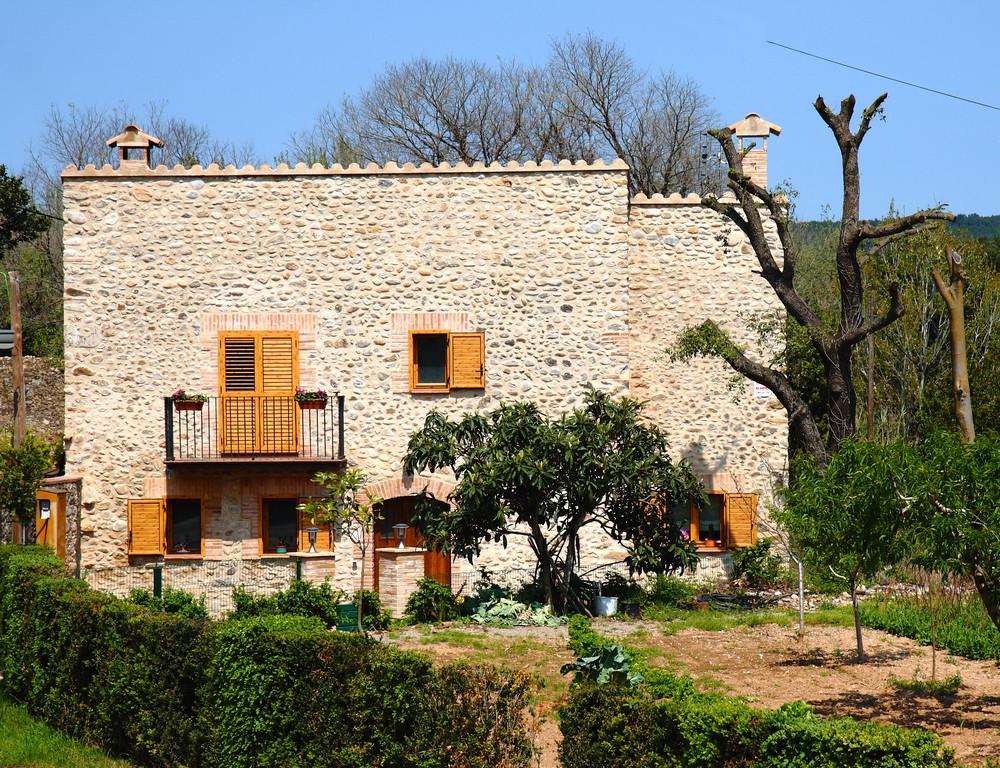Spanish Villa On A Summer's Day