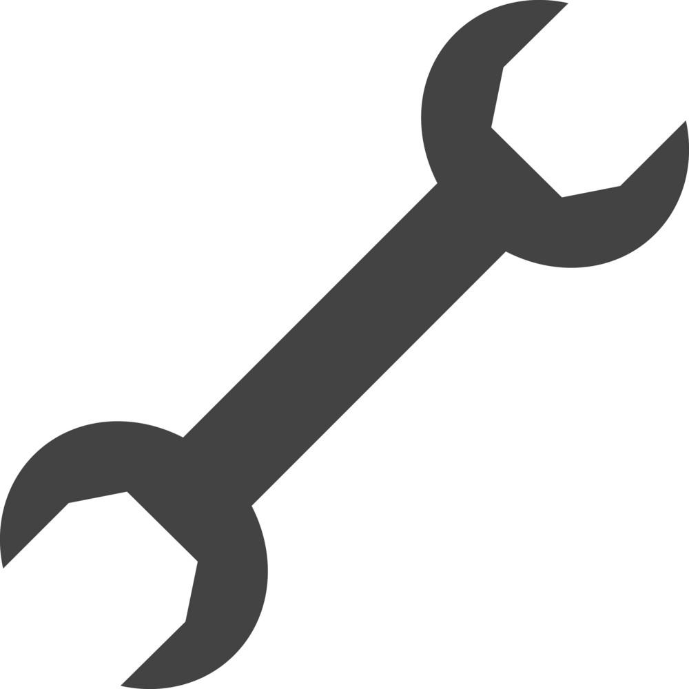 Spanner 1 Glyph Icon
