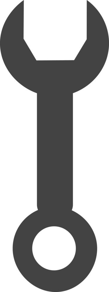 Spanner 2 Glyph Icon
