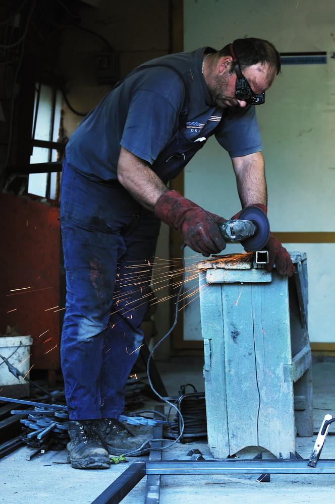 Industry worker sparks
