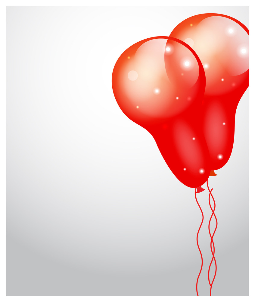 Sparkle Balloons Greeting Banner