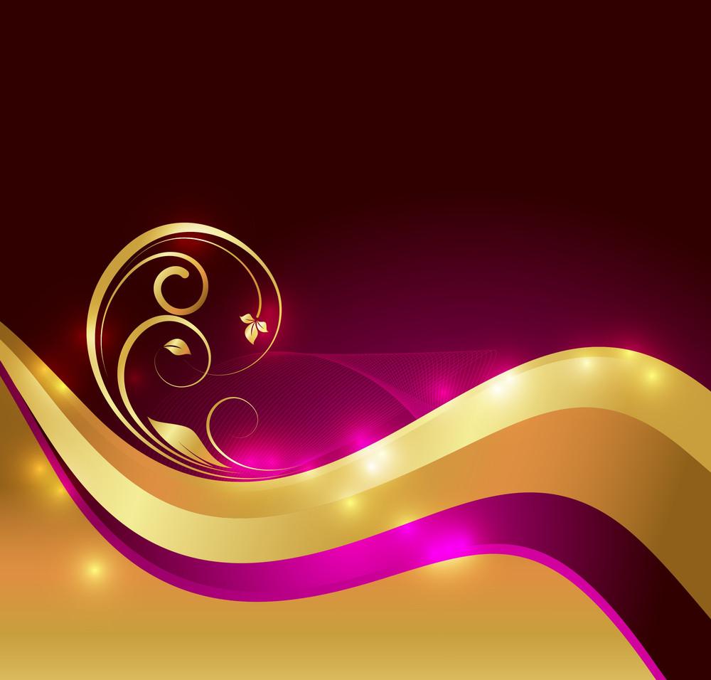 Sparkles Golden Floral Design