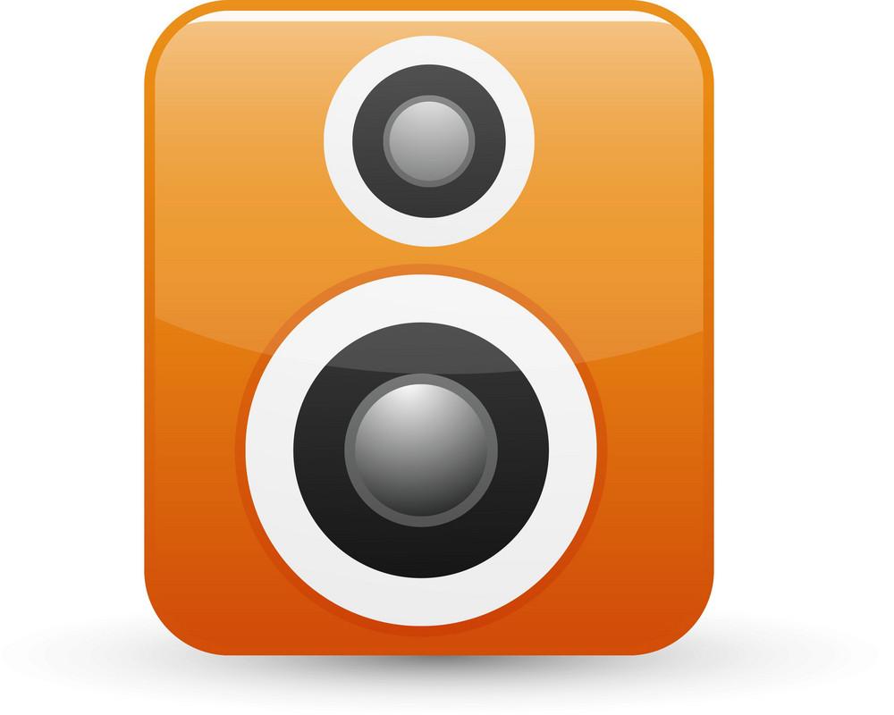 Speaker Orange Lite Media Icon