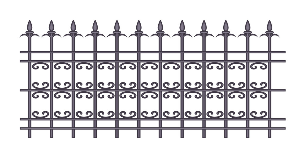 Spear Fence Vector Design