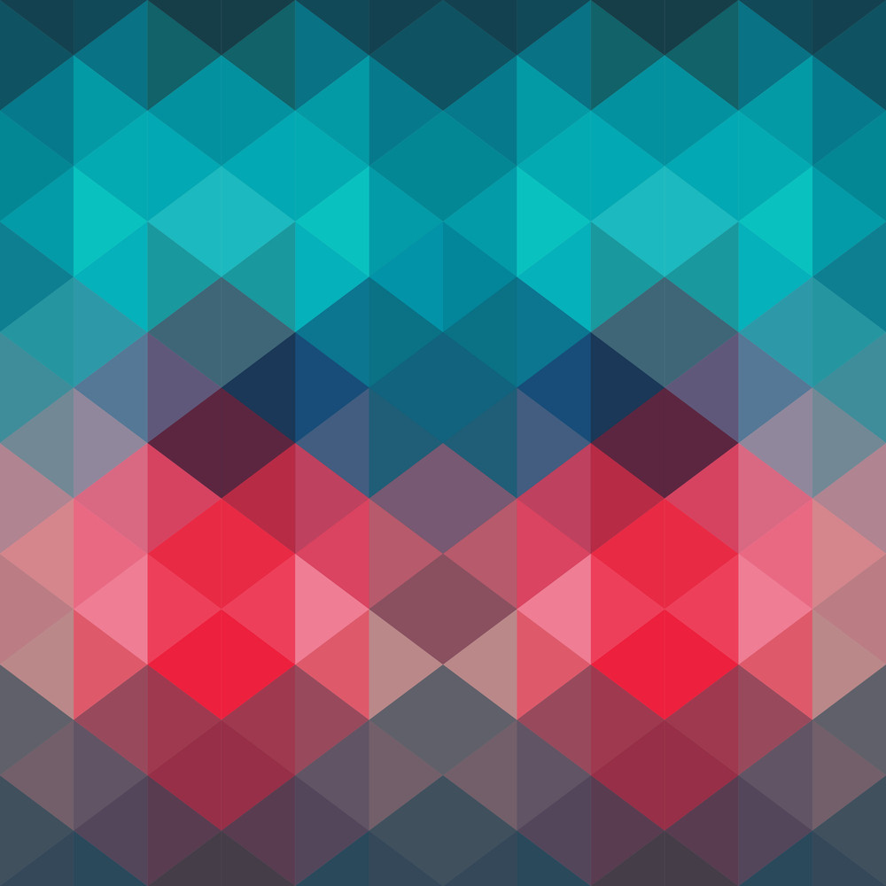 Spectrum Geometric Background Made Of Triangles Retro Hipster Color