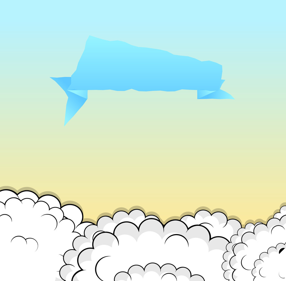 Speech Bubble Clouds Background