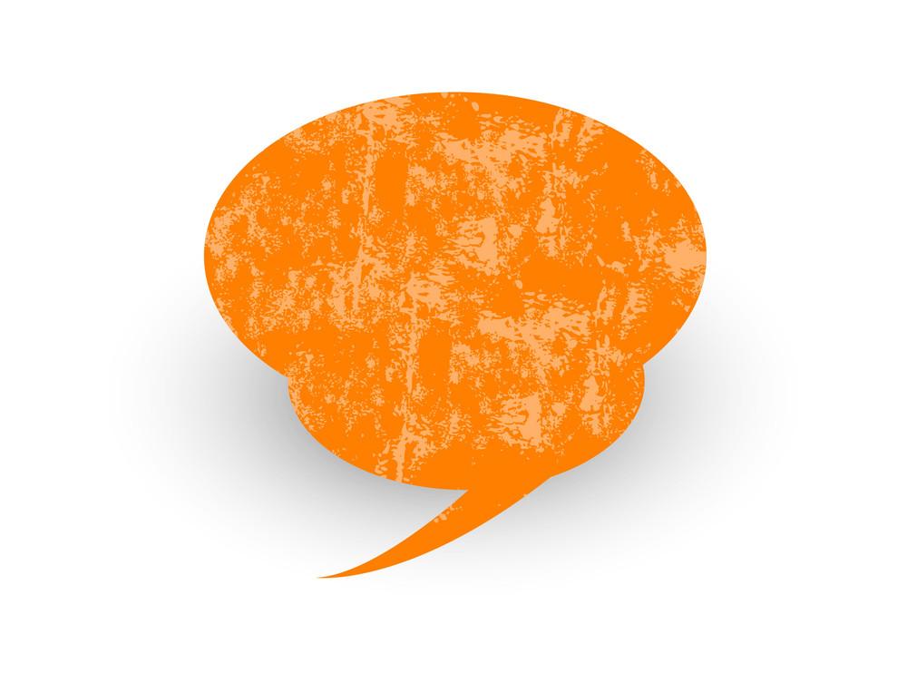 Speech Bubble Grunge Texture